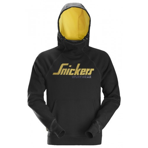 Snickers Logo Hoodie Size: L Black