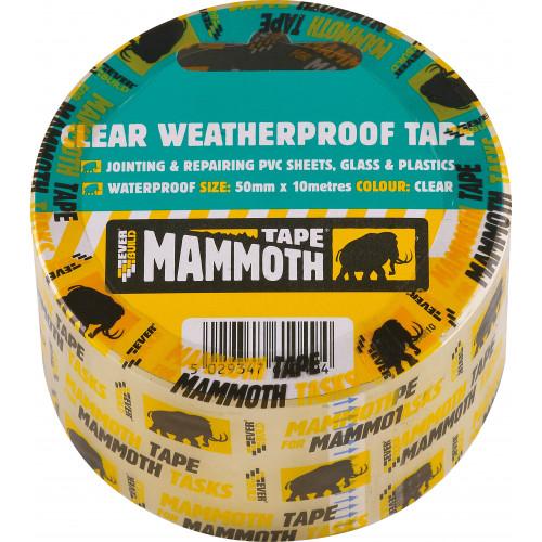 CLEAR WEATHERPROOF TAPE 50MM 10MTR