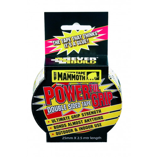MAMMOTH POWERFUL GRIP TAPE 12MM 2.5MTR