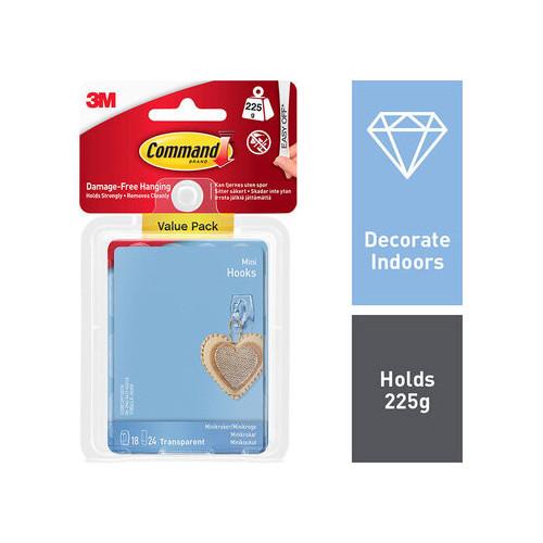 Command 18 Mini Hooks Value Pack