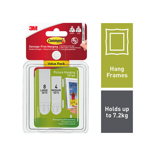 Command Picture Strips Med/Large Combi Pack