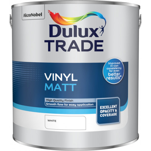 Dulux Trade Vinyl MATT WHITE 2.5L