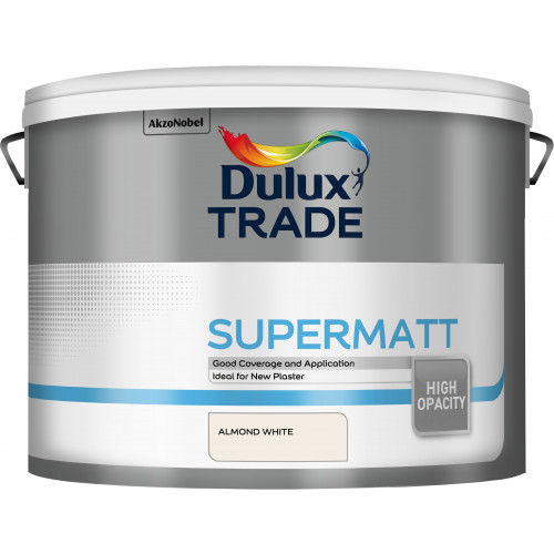 Dulux Trade SUPERMATT ALMOND WHITE 10L