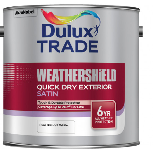 Dulux Trade WEATHERSHIELD Quick Dry SATIN PBW 2.5L
