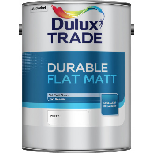 Dulux Trade DURABLE FLAT MATT WHITE 5L