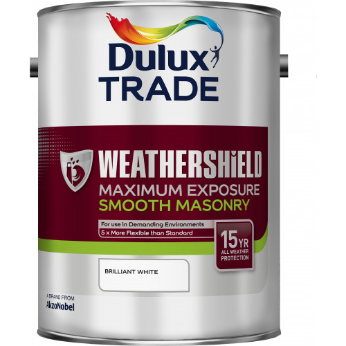 Dulux Trade WEATHERSHIELD MAX EXPOSURE B/WHITE 5L