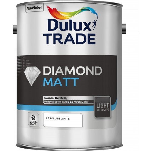 Dulux Trade Light & Space DIAMOND MATT ABSOLUTE WHITE 5L