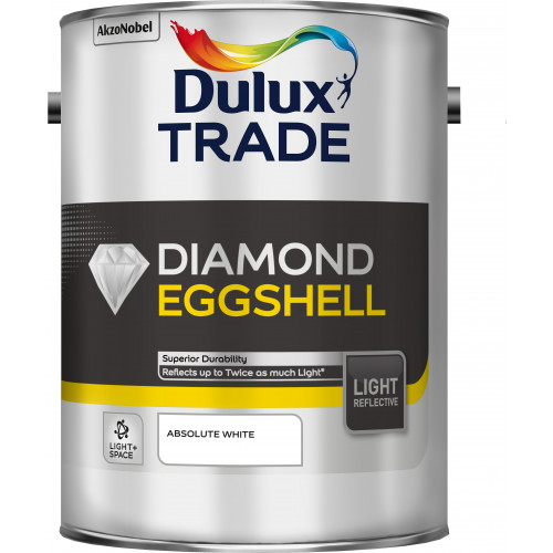 Dulux Trade DIAMOND EGGSHELL Light & Space AB/WHITE 5L