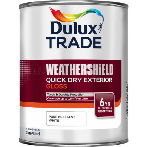 Dulux Trade WEATHERSHIELD Quick Dry EXT GLOSS PBW 1L