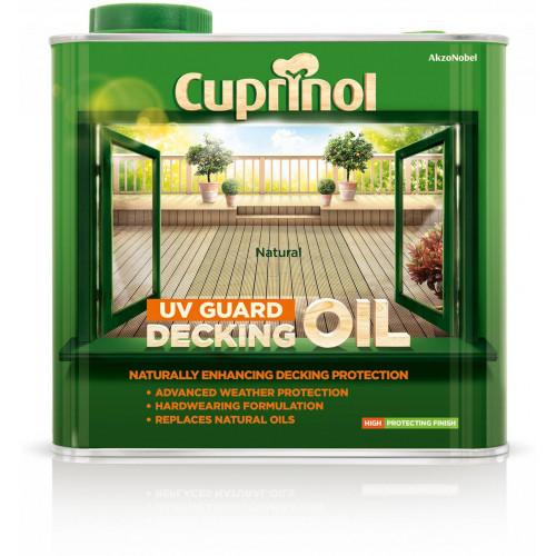 Cuprinol DECK/OIL PROTECT (WB) NATURAL 2.5L