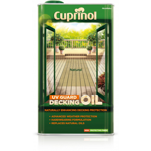 Cuprinol DECK/OIL PROTECT (WB) NATURAL 5L