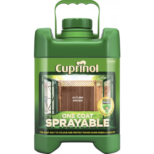 Cuprinol Sprayable Fence Treatment  AUTUMN BROWN 5L