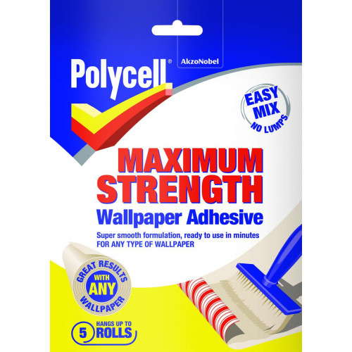 Polycell MAX STRENGTH Wallpaper ADHESIVE 5 ROLL