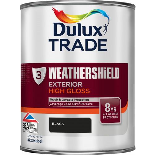 Dulux Trade WEATHERSHIELD GLOSS BLACK 1L