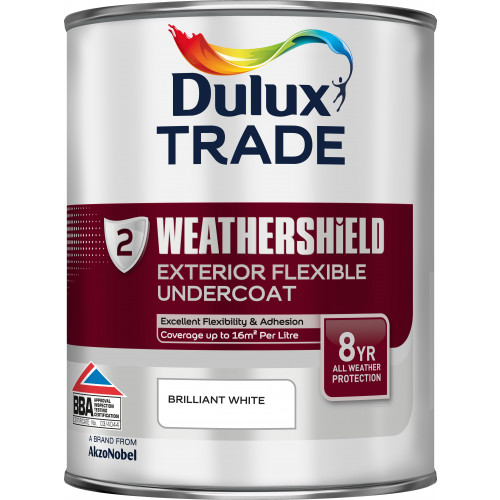 Dulux Trade WEATHERSHIELD UNDERCOAT B/WHITE 1L