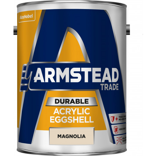 Armstead Trade ACRYLIC EGGSHELL MAGNOLIA 5L