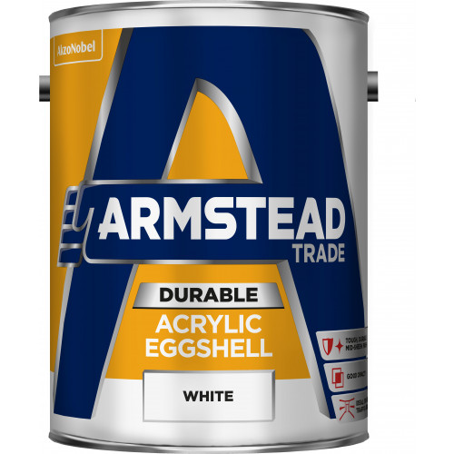 Armstead Trade ACRYLIC EGGSHELL WHITE 5L