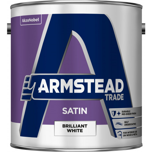 Armstead Trade SATIN FINISH B/WHITE 2.5L