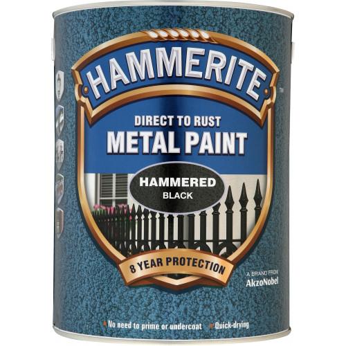 Hammerite METAL PAINT HAMMERED BLACK 5L