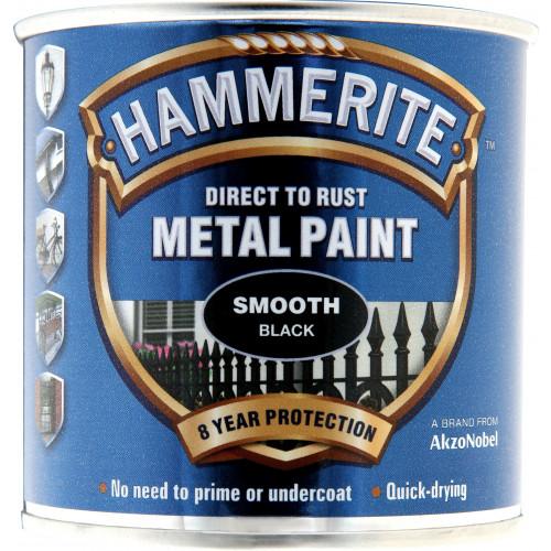 Hammerite METAL PAINT SMOOTH BLACK 250ML