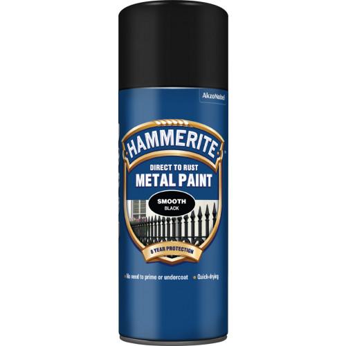 Hammerite METAL PAINT SMOOTH BLACK AERO 400ML