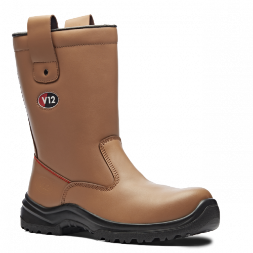 V6816 Polar Tan Fur Lined Rigger Boot