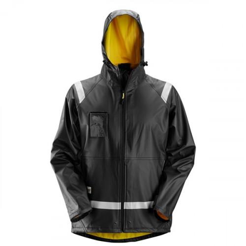Rain Jacket PU Black Size: XS