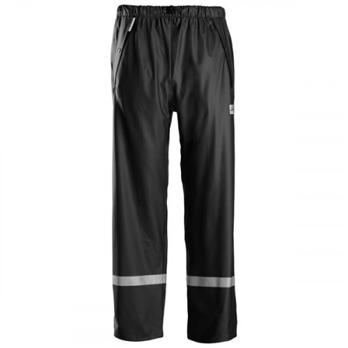 Rain Trousers PU Black Size: XS