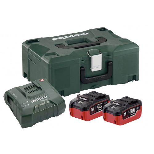 Basic Set 2 x 18V LiHD 5.5Ah, ASC 55 Charger + MetaLoc