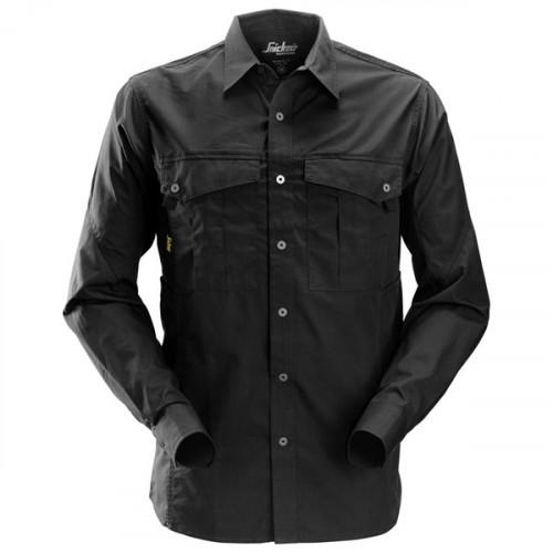 Rip Stop Shirt L/S Black Size: XS