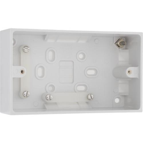 Surface box twin socket deep