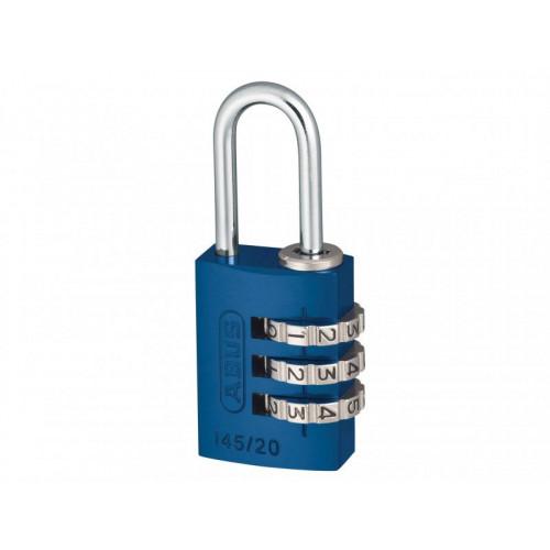 145/20 20mm Aluminium Combination Padlock Blue 46568