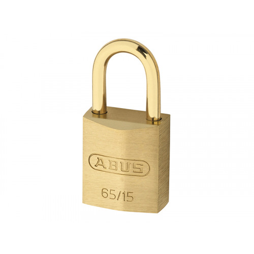 65MB/15 15mm Brass Padlock & Shackle Carded 09442