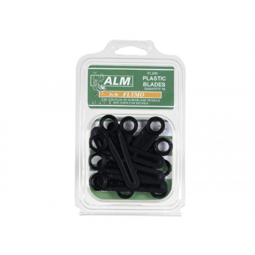 FL240 Plastic Blades Large Hole to Suit Flymo