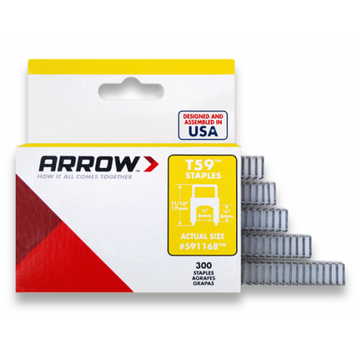 Insulated Staples (300) 6x6mm - Clear