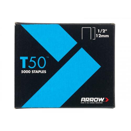 T50 Staples Box 5000 12mm - 1/2in