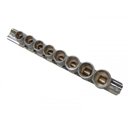 Sockets On Rail 8 Piece 3/8in Drive