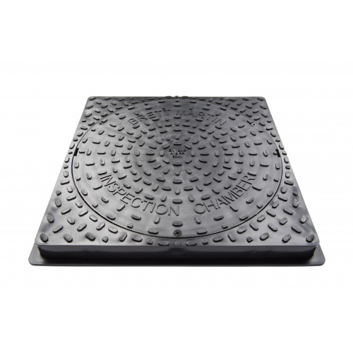 450MM DIA. SECURED SQUARE PLASTIC COVER FOR DRIVEWAYS 35kN