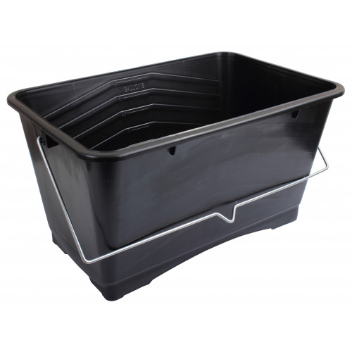 BLACK PLASTIC SCUTTLE 355mm - 14""