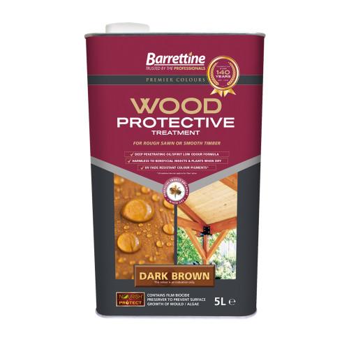 Barretine Wood Protective 5ltr Dark Brown