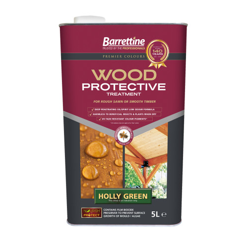 Barretine Wood Protective Holly Green 5 Litres