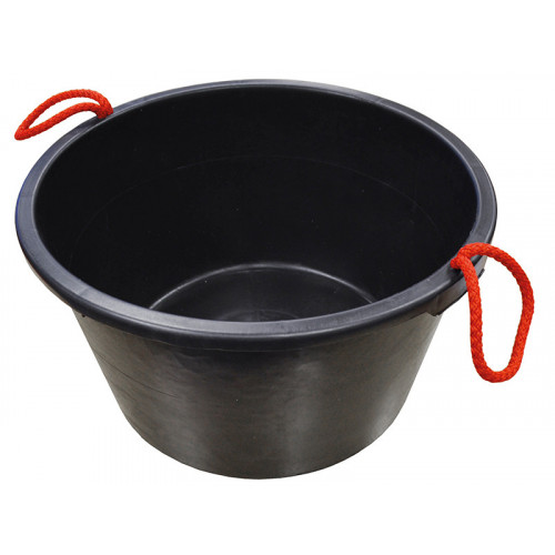 Faithfull Builders Bucket Black 40 Litre (9 Gall)