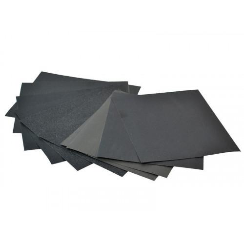 Faithfull Cork Block Wet & Dry Sanding Sheets Assorted (Pack 10)