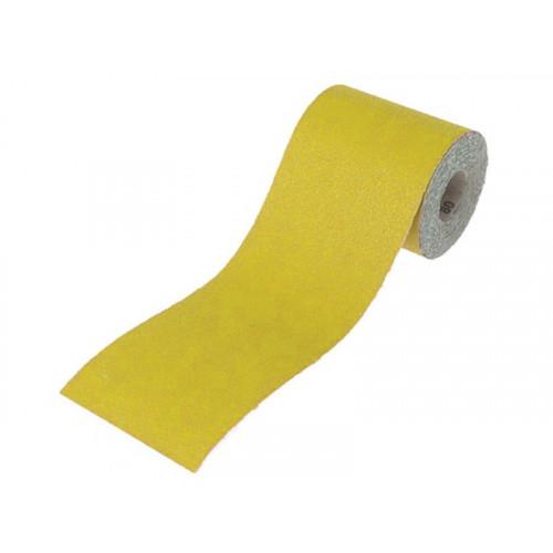 Faithfull Aluminium Oxide Paper Roll Yellow 115mm x 5m 80G