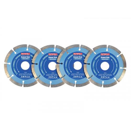 Faithfull Contract Diamond Blades 115 x 22.2mm (Pack 4)