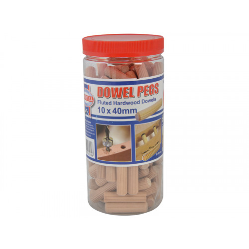 Faithfull Wood Dowels Fluted 40 X 10mm (Tub 100)