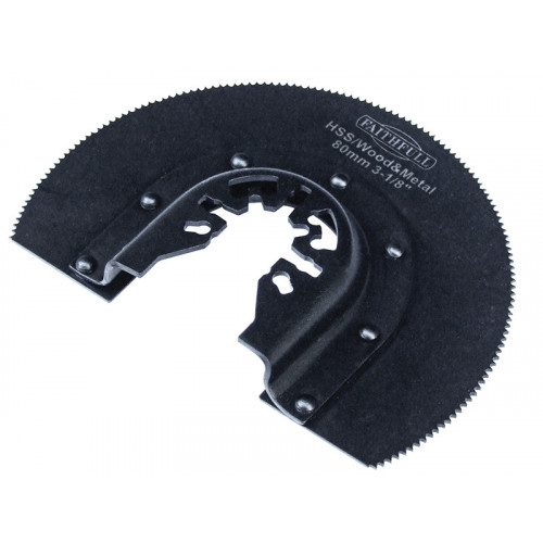 Faithfull Radial Blade Wood-Metal 80mm Hss