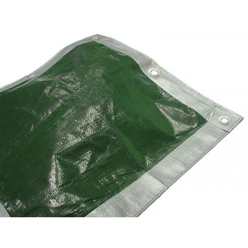 Faithfull Tarpaulin Green / Silver 3.6m x 2.7m (12ft x 9ft)