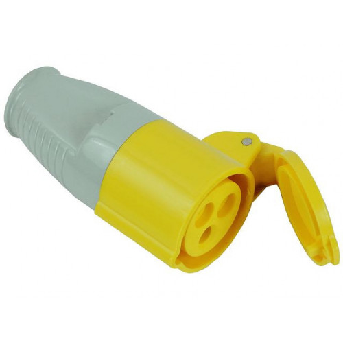 Yellow Socket 16 Amp 110 Volt