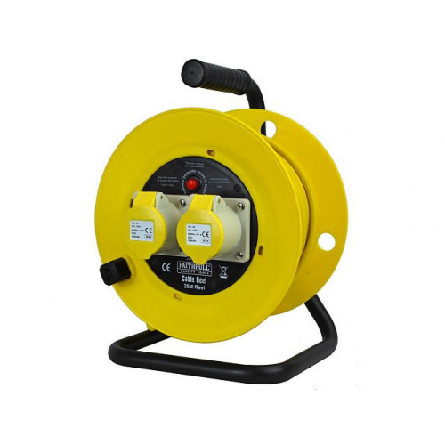 Cable Reel 25 Metre 16amp 1.5mm Cable 110 Volt